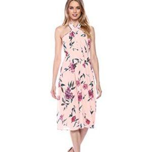 ASTR the label Kristi Halter Crossover Midi Dress
